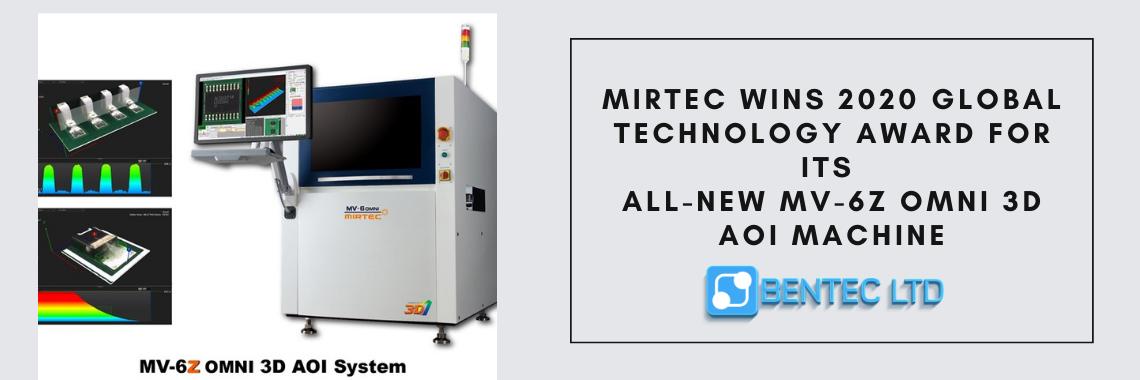 MIRTEC Wins 2020 GLOBAL Technology Award for Its